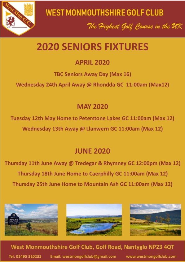 2020 Seniors Fixtures #1