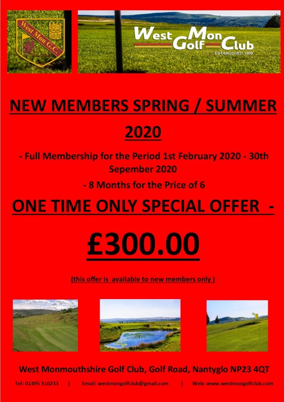Spring Summer Special Membership Offer 01022020