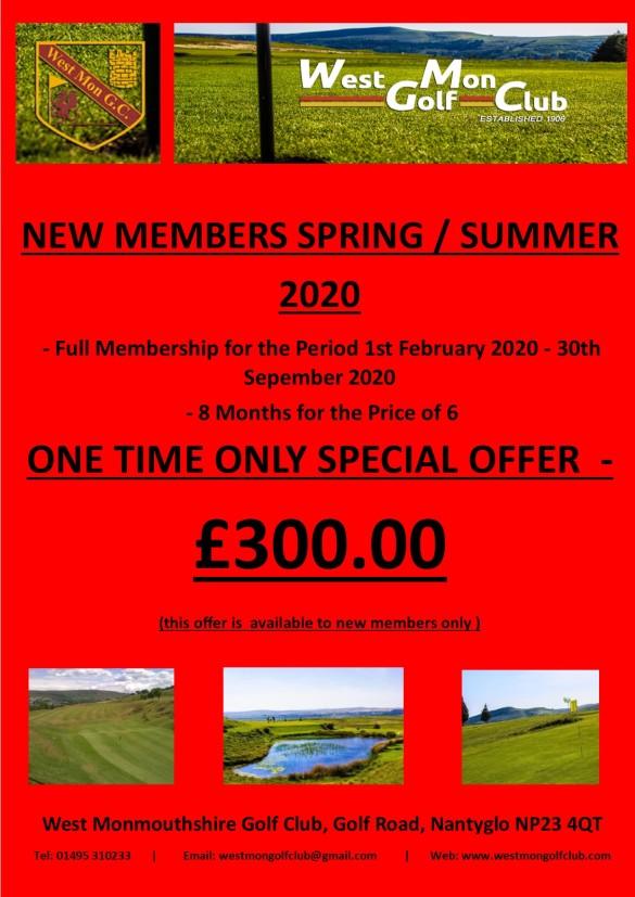 Spring Summer Special Membership Offer 01022020